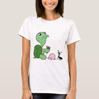 Traurige Schildkröte-glückliche Ameise T-Shirt