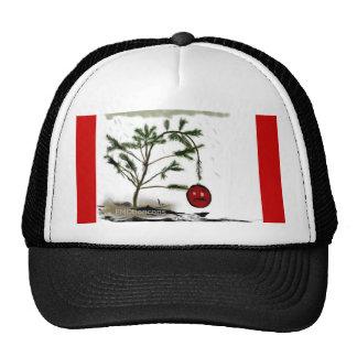 Traurige Weihnachtsbaum-witzige Shirts und -gesche Netz Caps