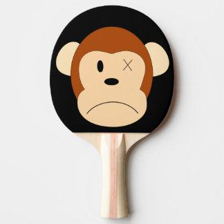 Trauriger Affe verlor ein Augen-Schwarz-Klingeln Tischtennis Schläger