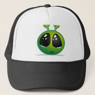 Trauriger alien-smiley truckerkappe