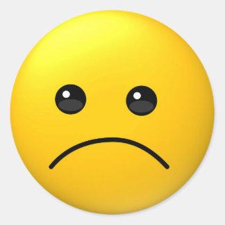 Trauriger Ausdruck emoji Aufkleber