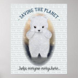 Trauriger Baby-Eisbär Poster