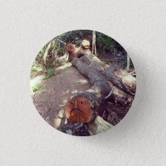 Trauriger Baum-Knopf Runder Button 2,5 Cm