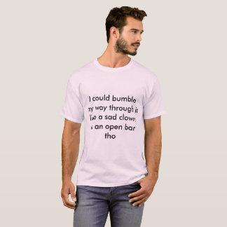trauriger Clown der Hummel T-Shirt