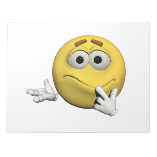 Trauriger Emoticon Notizblock
