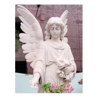 Trauriger Engel Postkarte