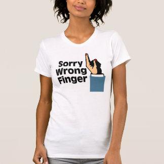 Trauriger falscher Finger T-Shirt