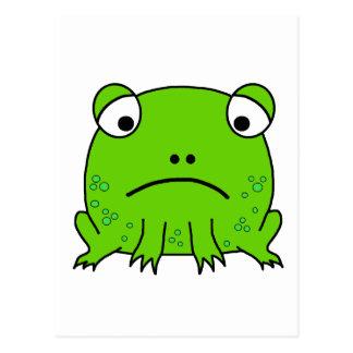 Trauriger Frosch Postkarte
