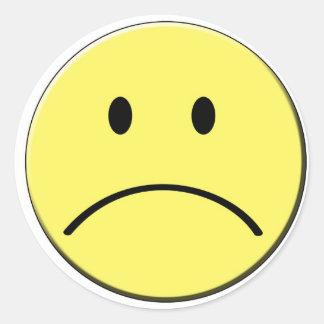 Trauriger Gesichts-Aufkleber