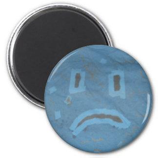Trauriger Gesichts-Magnet Runder Magnet 5,7 Cm