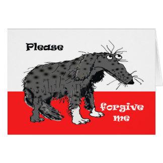 Trauriger Hund, verzeihen mir bitte Karte