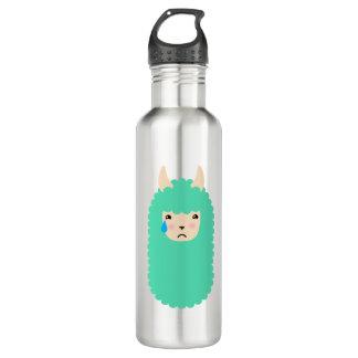 Trauriger LamaEmoticon Trinkflasche