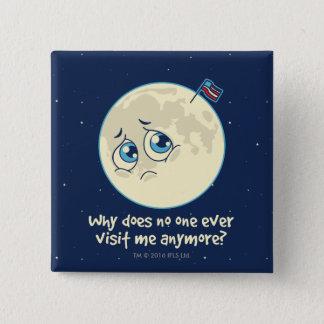 Trauriger Mond Quadratischer Button 5,1 Cm