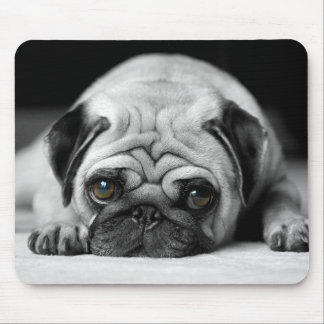 Trauriger Mops Mousepad