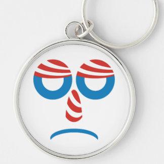Trauriger Obama stellen gegenüber Schlüsselanhänger