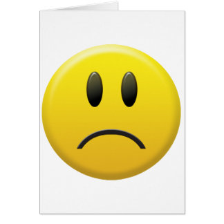 Trauriger Smiley Karte