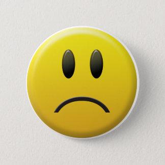 Trauriger Smiley Runder Button 5,7 Cm