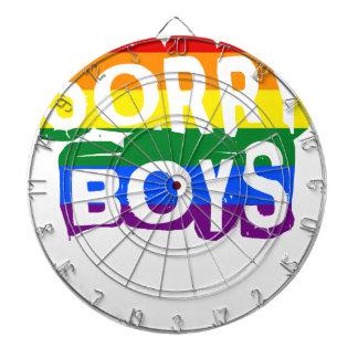 Trauriger Stolz der Jungen-LGBTQ Dartscheibe