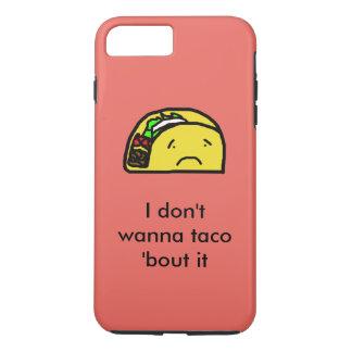 Trauriger Taco-Telefon-Kasten iPhone 8 Plus/7 Plus Hülle