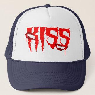 Trauriger und glücklicher Vampirs-Kuss Truckerkappe