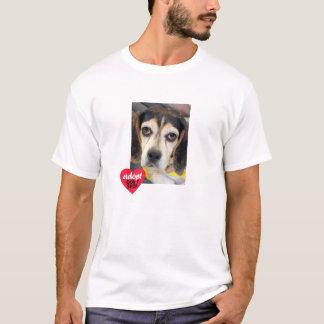 Trauriges Beagle-Adoptierte kaufen nicht T-Shirt