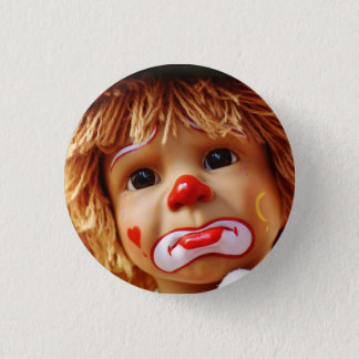 Trauriges Clown-Button Runder Button 2,5 Cm