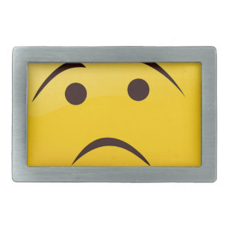 Trauriges Emoji Rechteckige Gürtelschnalle