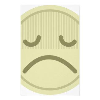 Trauriges Gesicht Briefpapier