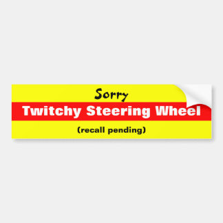 Trauriges Twitchy Lenkrad Autoaufkleber