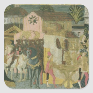 Trauung gemalt auf cassone Platte, Floren Stickers