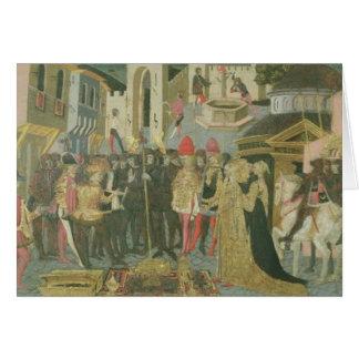 Trauung gemalt auf cassone Platte, Floren Grußkarte