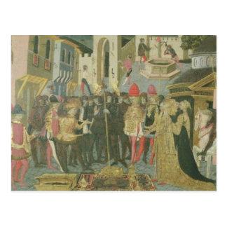 Trauung gemalt auf cassone Platte, Floren Postkarte