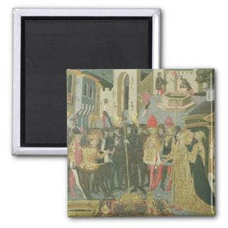 Trauung gemalt auf cassone Platte, Floren Quadratischer Magnet