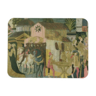 Trauung gemalt auf cassone Platte, Floren Rechteckige Magnete