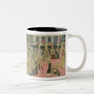 Trauung gemalt auf cassone Platte, Floren Zweifarbige Tasse