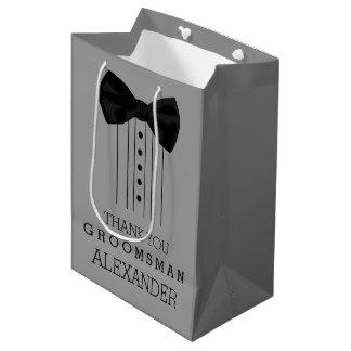 Trauzeuge-Bogen-KrawatteTuxedo fertigen graue Mittlere Geschenktüte