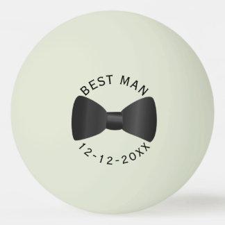 Trauzeuge-Hochzeits-Glühen im dunklen Ping Pong Tischtennis Ball