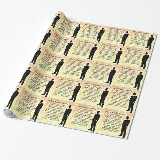 Trauzeuge - Sahneseide Geschenkpapier