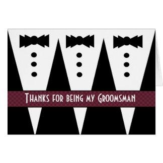 TRAUZEUGEN danken Ihnen - drei Tuxedos - Grußkarte