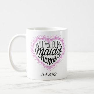 Trauzeugin-Antrag-Herz-Tasse Kaffeetasse