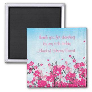 Trauzeugin/Brautjungfer danken Ihnen Magnet Kühlschrankmagnet