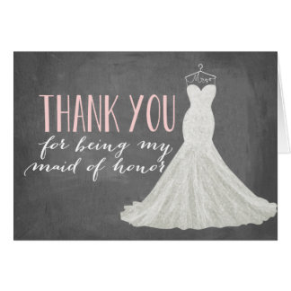 Trauzeugin danken Ihnen | Brautjungfer Mitteilungskarte