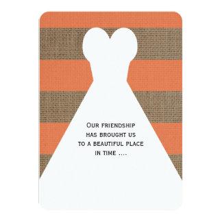 Trauzeugin-Gedicht-Koralle mit Kleid 11,4 X 15,9 Cm Einladungskarte