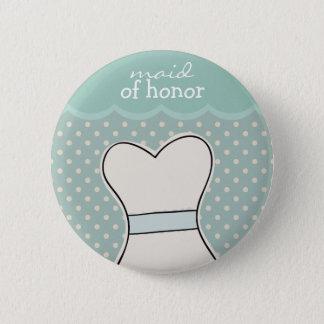 Trauzeugin -- Hochzeitskleider//-BLAU Runder Button 5,1 Cm