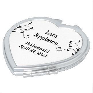 Trauzeugin-oder der Brautjungfer Taschenspiegel