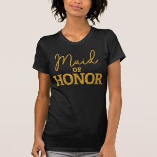Trauzeugin-Shirt für Junggeselinnen-Abschieds-Gold T-Shirt