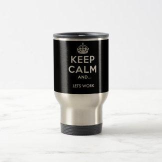 """Travel Becher """"Keep calm"""" black Reisebecher"""