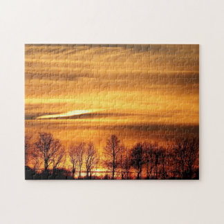 Treeline im Sonnenuntergang Puzzle