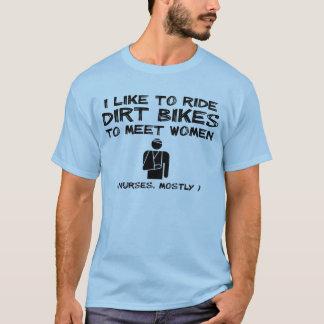 Treffen-Frauen-Schmutz-Fahrradmotocross-lustiger T-Shirt