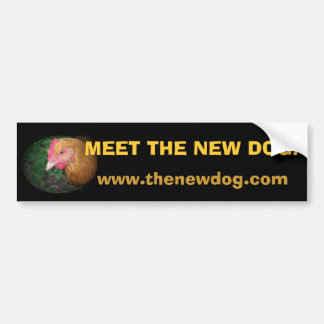 Treffen Sie den neuen Hund! Autoaufkleber